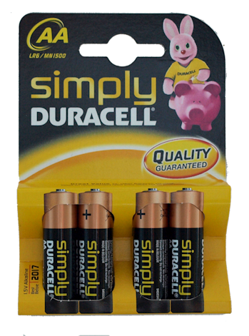 Duracell AA Batteries (6)