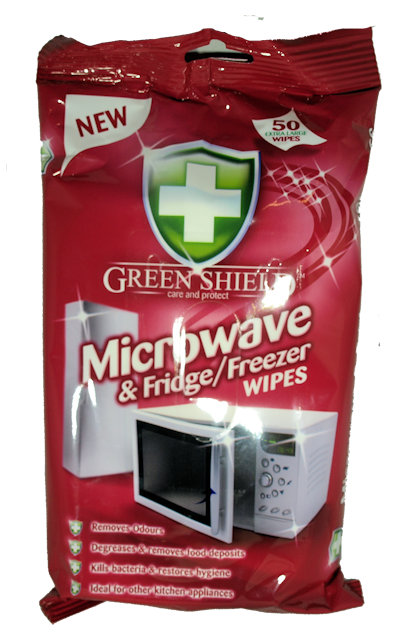 Greenshield Microwave/Fridge Wipes x 50